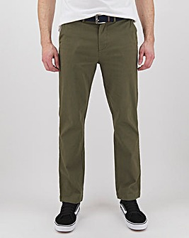 "New and Improved Belted Chino 31"" with Softer Stretch Fabric"
