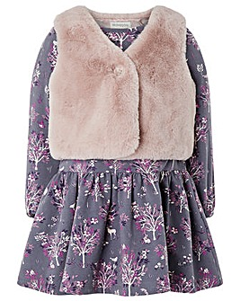 Monsoon Baby Polly Dress And Gilet