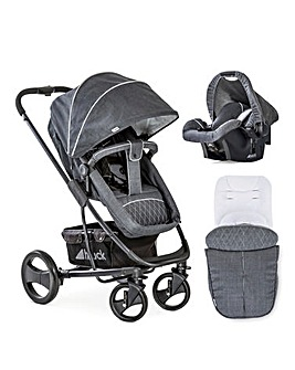 Hauck Pacific 4 Shop'n Drive Set Travel System - Melange/Grey