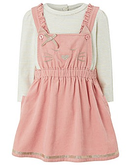 Monsoon Baby Ella Cord Pinny Dress