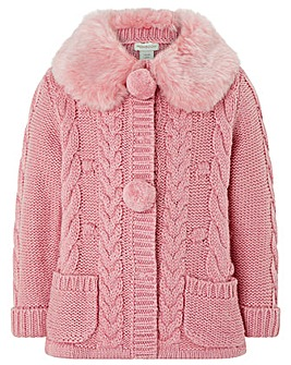 Monsoon Baby Millie Pink Cardigan