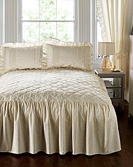 Vantona Monique Cream Fitted Bedspread
