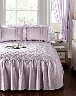Vantona Monique Lilac Fitted Bedspread