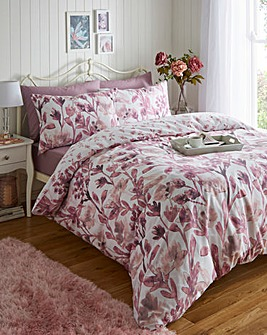 Lily Pink Duvet Cover Set