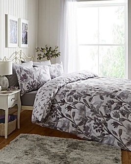 Lily Grey Reversible Duvet Set