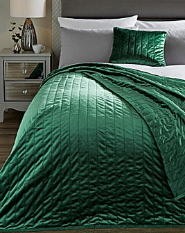 Velvet Quilted 150 x 200cm Throw