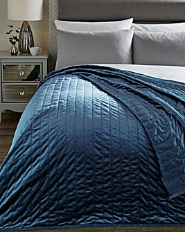 Velvet Quilted 220 x 240cm Throw
