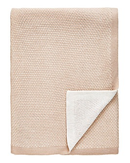 Luxury Jacquard Knit Natural Throw