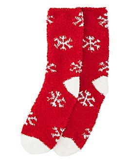 Fluffy Christmas Cracker socks