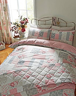 Ethel Pink Duvet Cover Set
