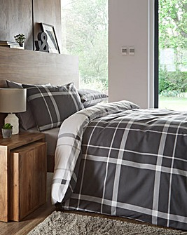 Kelsey Charcoal Duvet Cover Set