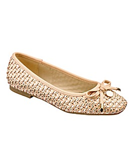 Sole Diva Woven Ballerinas E Fit