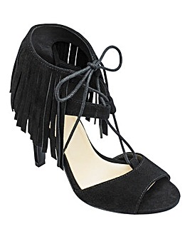 Sole Diva Fringe Sandals E Fit