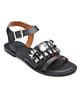 Sole Diva Jewelled Sandals E Fit