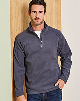 Capsule Slate Grey Zip Neck Fleece R