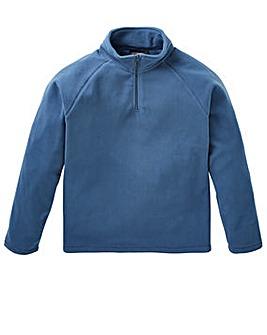 Capsule Storm Blue Zip Neck Fleece