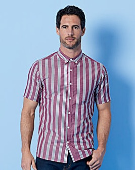WILLIAMS & BROWN Wine S/S Stripe Shirt