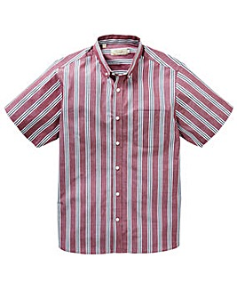 WILLIAMS & BROWN Wine S/S Stripe Shirt