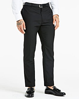 Black Plain Front Slim Fit Trousers