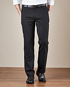 Black Five Pocket Style Regular Fit Trousers
