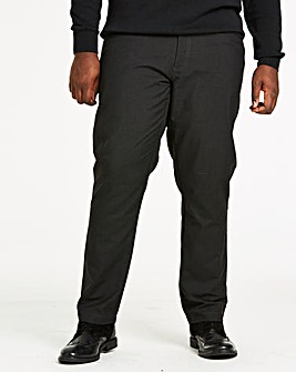 Charcoal Five Pocket Style Regular-Fit Trousers