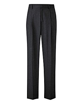 Charcoal Pleated Front Regular Fit Trousers