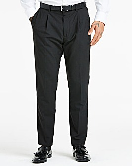 Charcoal Pleat Front Reg Fit Trousers