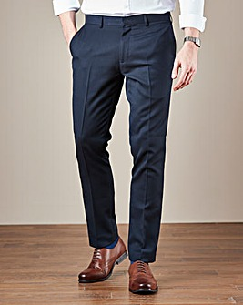 WILLIAMS & BROWN LONDON Plain Front Regular Fit Texture Trousers