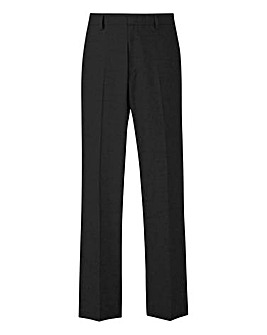 Charcoal Plain Front Reg Fit Trousers