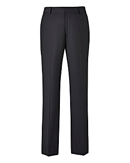 Black Plain Front Slim Fit Stretch Trousers