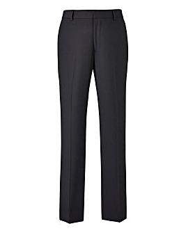 Black Plain Front Slim Fit Trousers