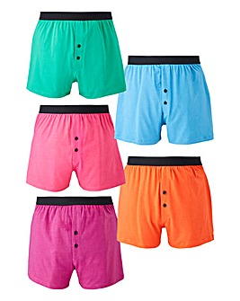 Pack of 5 Jersey Boxers
