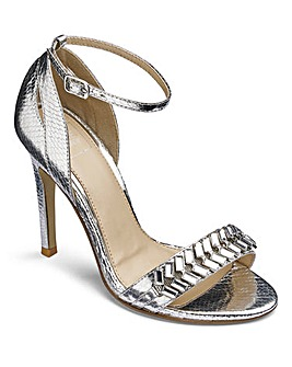 Lovedrobe Jewelled Sandals Wide E Fit