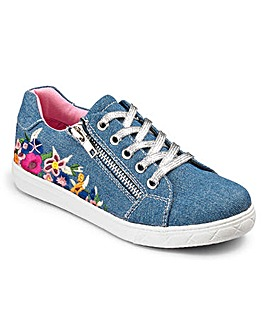 KD Girls Embroidered Trainers STANDARD FIT