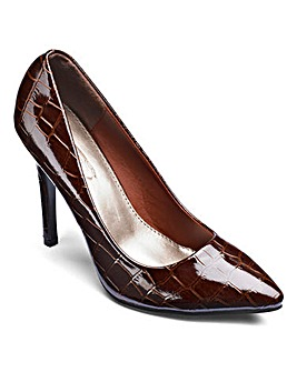 Sole Diva Pointy Court Shoes Standard D Fit