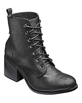 London Rebel Lace Up Boots Standard D Fit
