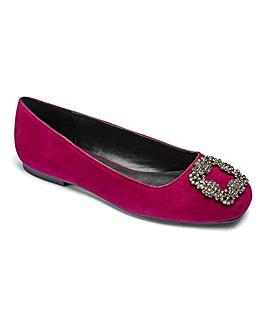 Sole Diva Ballerina Shoes Wide E Fit