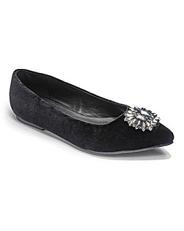 Sole Diva Jewelled Shoes E Fit