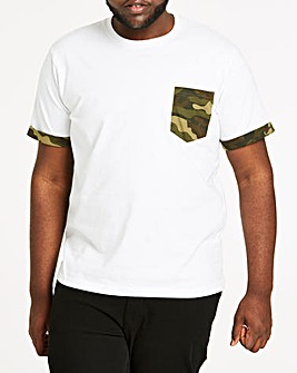 Camo Pocket White T-Shirt L