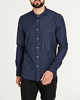 Stretch Denim Long Sleeve Shirt Regular
