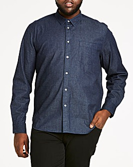 Stretch Denim Long Sleeve Shirt Long