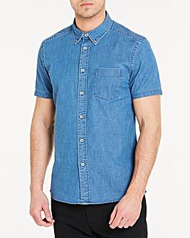 Stretch Denim S/S Shirt L