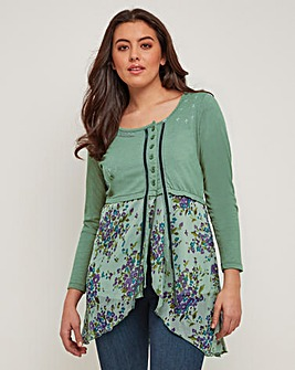 Joe Browns Green Floral Top
