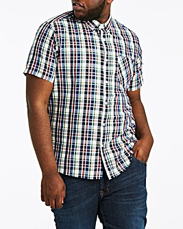 Check Short Sleeve Shirt Long