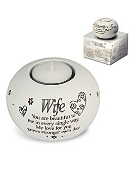 Wife Sentiments Tea Light Holder