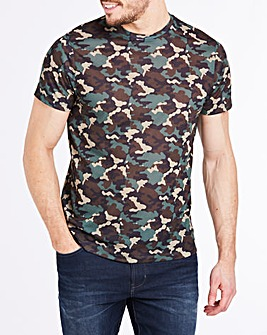 Camo Print Sublimation T-Shirt R