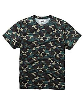 Camo Print Sublimation T-Shirt L