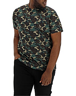 Camo Print Sublimation T-Shirt L
