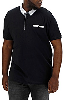 Trim Detail Black Polo Long