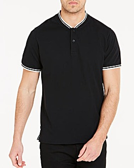 Baseball Collar Black Polo Long